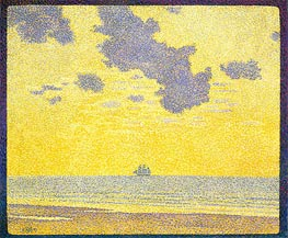 Rysselberghe | Big Clouds, 1893 | Giclée Canvas Print