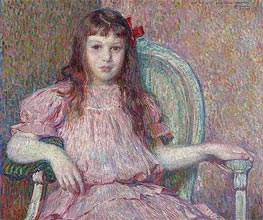 Portrait of Sylvie Lacombe, 1906 by Rysselberghe | Giclée Canvas Print