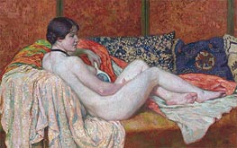 Resting Nude Model, 1914 by Rysselberghe | Giclée Canvas Print