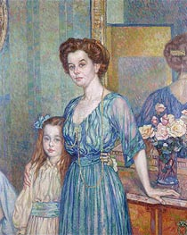 Mme Bodenhausen with a Child, 1910 by Rysselberghe | Giclée Canvas Print