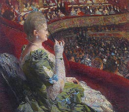 Rysselberghe | Madame Edmond Picard in the Box of Theatre de la Monnaie, 1887 | Giclée Canvas Print