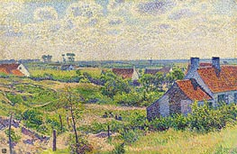 Rysselberghe | Landscape with Houses, 1894 | Giclée Canvas Print