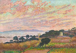 Rysselberghe | The Bay at Sunset (Saint Clair), 1916 | Giclée Canvas Print