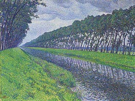 Canal in Flanders, 1894 by Rysselberghe | Giclée Canvas Print
