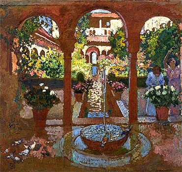 Garden and Arcade, undated   Rysselberghe   Painting Reproduction