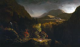 Thomas Cole | Landscape with Figures (The Last of the Mohicans), 1826 | Giclée Canvas Print