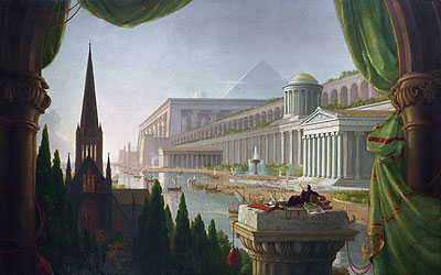 The Architect's Dream, 1840 | Thomas Cole | Painting Reproduction