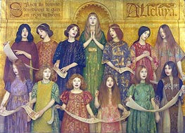 Thomas Gotch | Alleluia, 1896 | Giclée Canvas Print