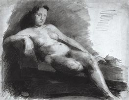Thomas Eakins | Reclining Female Nude, c.1863/66 | Giclée Paper Print