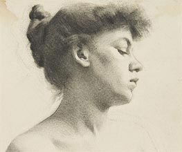 Thomas Eakins | Head of a Woman with a Bun, undated | Giclée Paper Print