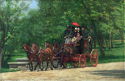 A May Morning in the Park, c.1879/80 | Thomas Eakins | Painting Reproduction