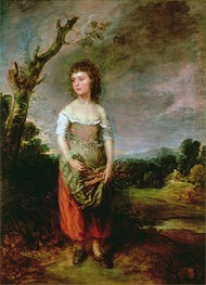Gainsborough | Peasant Girl Gathering Faggots | Giclée Canvas Print