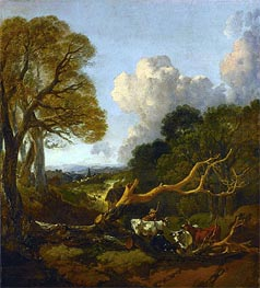 Gainsborough | The Fallen Tree, c.1750/53 | Giclée Canvas Print
