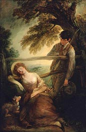 Gainsborough | Haymaker and Sleeping Girl (Mushroom Girl), 1789 | Giclée Canvas Print