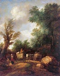 Gainsborough | Landscape With Country Carts, c.1784/85 | Giclée Canvas Print