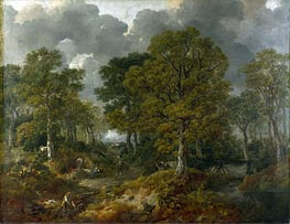 Gainsborough | Cornard Wood, near Sudbury, Suffolk (Gainsborough's Forest), 1748 | Giclée Canvas Print