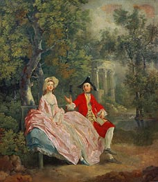 Gainsborough | Conversation in a Park (Portrait of the Artist and his Wife, Margaret Burr), 1746 | Giclée Canvas Print