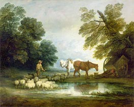 Gainsborough | Shepherd by a Stream, Undated | Giclée Canvas Print