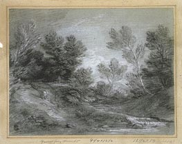 Gainsborough | A Woodland Stream, Undated | Giclée Paper Print