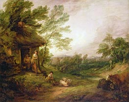 Gainsborough | Cottage Door with Girl and Pigs, c.1786 | Giclée Canvas Print