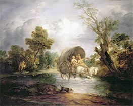 Gainsborough | A Country Cart Crossing a Ford, c.1786 | Giclée Canvas Print