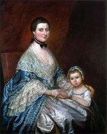 Gainsborough | Mrs. Bedingfield and her Daughter, c.1760/70 | Giclée Canvas Print