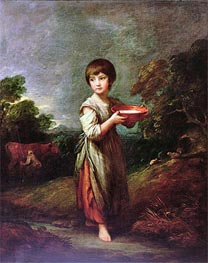 Gainsborough | Lavinia, the Milk Maid, Undated | Giclée Canvas Print