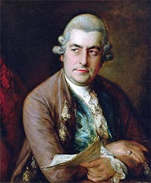 Gainsborough | Portrait of Johann Christian Bach, Undated | Giclée Canvas Print