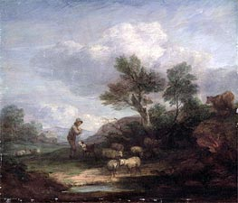 Gainsborough | Landscape with Sheep, Undated | Giclée Canvas Print
