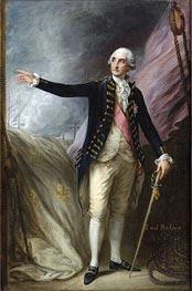 Gainsborough | Portrait of George Brydges Rodney, 1st Lord Rodney, 1782 | Giclée Canvas Print