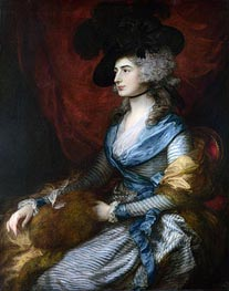 Gainsborough | Mrs Siddons, 1785 | Giclée Canvas Print