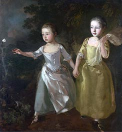 Gainsborough | The Painter's Daughters Chasing a Butterfly, c.1756 | Giclée Canvas Print
