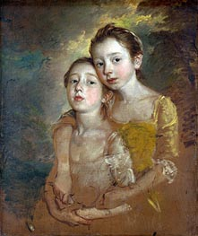 Gainsborough | The Painter's Daughters with a Cat, c.1760/61 | Giclée Canvas Print