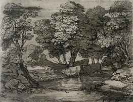 Gainsborough | Wooded Landscape with Three Cows at a Pool, Undated | Giclée Paper Print