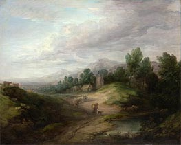 Gainsborough | Wooded Upland Landscape, c.1783 | Giclée Canvas Print