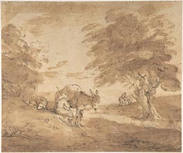 Gainsborough | A Rest by the Way, c.1780 | Giclée Paper Print