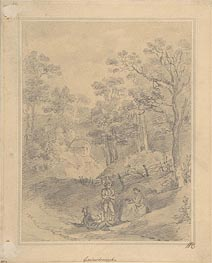 Gainsborough | Landscape with Figures, Undated | Giclée Paper Print