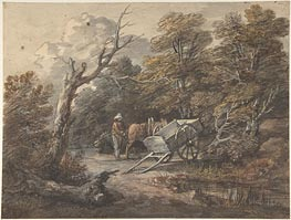 Gainsborough | Woodland Scene with a Peasant, a Horse, and a Cart | Giclée Paper Print