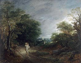 Gainsborough | Wooded Landscape with a Woodcutter, c.1762/63 | Giclée Canvas Print