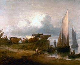 Gainsborough | A Coastal Landscape, c.1782/84 | Giclée Canvas Print