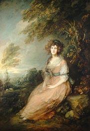 Gainsborough | Mrs. Richard Brinsley Sheridan, c.1785/87 | Giclée Canvas Print
