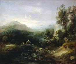 Gainsborough | Mountain Landscape with Bridge, c.1783/84 | Giclée Canvas Print