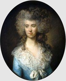 Gainsborough | Portrait of a Lady in a Blue Dress, c.1783/85 | Giclée Canvas Print
