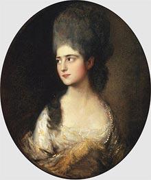 Gainsborough | Portrait of Miss Elizabeth Linley, c.1775 | Giclée Canvas Print