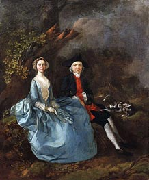 Gainsborough | Portrait of Sarah Kirby and John Joshua Kirby, c.1751/52 | Giclée Canvas Print