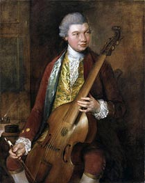Gainsborough | Portrait of Karl Friedrich Abel, c.1765 | Giclée Canvas Print