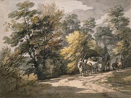 Gainsborough | A Cart Passing along a Winding Road, 1765 | Giclée Paper Print