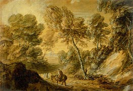 Gainsborough | Wooded Landscape with Horseman and Pack Horse, c.1770 | Giclée Paper Print