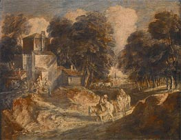 Gainsborough | Landscape with Travelers, 1772 | Giclée Paper Print