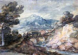 Gainsborough | Landscape with Cattle Crossing a Bridge, 1785 | Giclée Paper Print